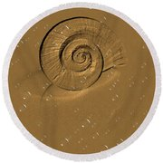 Golden Fantasy. Shell. Abstarct. Beautiful Home Collection 2015 Round Beach Towel