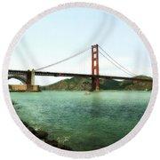 Golden Gate Bridge 2.0 Round Beach Towel