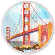 Golden Gate Bridge 3 Round Beach Towel