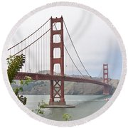 Golden Gate Bridge 3 Round Beach Towel