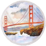 Golden Gate Bridge 4 Round Beach Towel