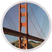 Golden Gate Bridge From Fort Point Round Beach Towel