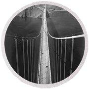 Golden Gate Bridge In 1937 Round Beach Towel