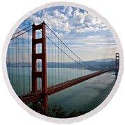 Golden Gate Open Round Beach Towel