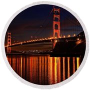 Round Beach Towel featuring the photograph Golden Glory by Dave Files
