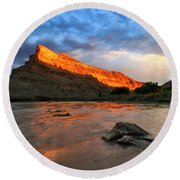 Round Beach Towel featuring the photograph Golden Highlights by Ronda Kimbrow