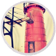 Golden Hour At South Haven Round Beach Towel