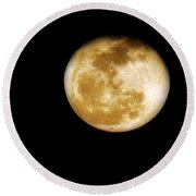 Golden Moon Round Beach Towel