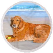Golden Murphy Round Beach Towel
