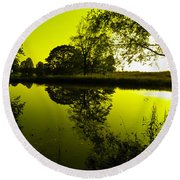 Golden Pond Round Beach Towel by Nick Kirby
