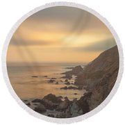 Golden Seashore Round Beach Towel