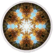 Golden Shimmer K2 Round Beach Towel