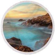 Golden Sky Round Beach Towel by Jonathan Nguyen