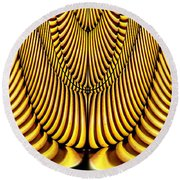 Round Beach Towel featuring the painting Golden Slings by Rafael Salazar