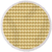 Golden Sparkle Tone Pattern Unique Graphic V2 Round Beach Towel by Navin Joshi
