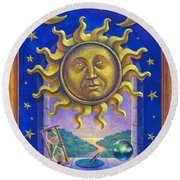Golden Sun Gw Round Beach Towel