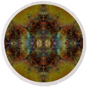 Golden Tapestry Round Beach Towel