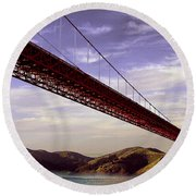 Goldengate Bridge San Francisco Round Beach Towel by Bob and Nadine Johnston