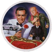 Goldfinger Round Beach Towel