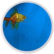 Goldfish Study 4 - Stone Rock'd Art By Sharon Cummings Round Beach Towel by Sharon Cummings