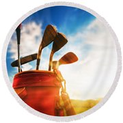 Golf Equipment  Round Beach Towel