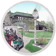 Golf Seven Springs Mountain Resort Round Beach Towel
