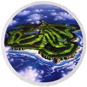 Golfer's Paradise Round Beach Towel