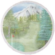 Golfing At Hood Round Beach Towel