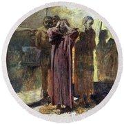 Golgotha, 1892-93 Oil On Canvas Round Beach Towel
