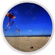 Gone Flyin Round Beach Towel by Robert McCubbin