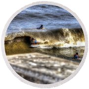 Gone In Seconds Round Beach Towel