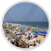 Good Beach Day At Bethany Beach In Delaware Round Beach Towel