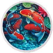 Good Fortune Round Beach Towel