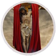 His Ultimate Gift Of Mercy - Jesus Christ Round Beach Towel