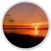Round Beach Towel featuring the photograph Good Morning ... by Juergen Weiss