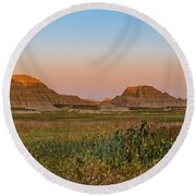 Round Beach Towel featuring the photograph Good Morning Badlands II by Patti Deters