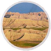 Round Beach Towel featuring the photograph Good Morning Badlands I by Patti Deters