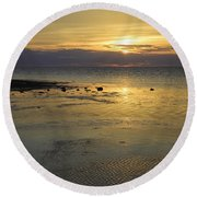 Good Morning Florida Keys V Round Beach Towel by Fran Gallogly