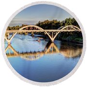 Good Morning Grants Pass II Round Beach Towel