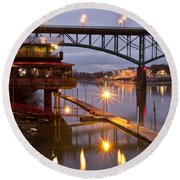 Good Morning Knoxville Round Beach Towel