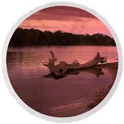 Good Morning Sacramento River Round Beach Towel