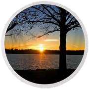 Good Night Potomac River Round Beach Towel