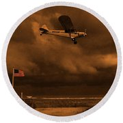Good Night Wildwood Beach Round Beach Towel