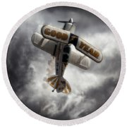 Round Beach Towel featuring the photograph Good Year Cloud by Paul Job