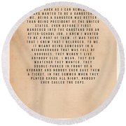 Goodfellas Round Beach Towel