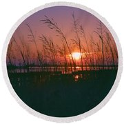 Goodnight Sun Round Beach Towel