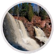 Gooseberry Falls Round Beach Towel by James Peterson