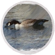 Goosey Lucy Painting Round Beach Towel