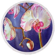 Gorgeous Orchid Round Beach Towel