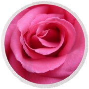 Round Beach Towel featuring the photograph Gorgeous Pink Rose by Vicki Spindler